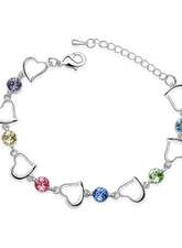 Bracciale Luxurious Lega Luxurious Per Donne Forma del Cuore