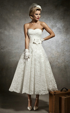 immagine 1 - Abiti da Sposa con Bottone Vintage con Applique seducente Fancy