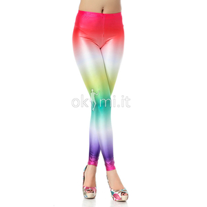 grande immagine 1 Leggings Candy-Color di Polyester in Spandex Carino