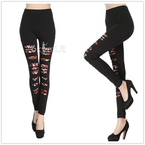 grande immagine 1 Leggings donna Hip Hop in Spandex Close-fitting Meisai